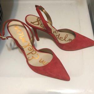 Sam Edelman slingback red heels 7 1/2